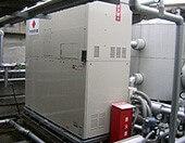 天然ガスで発電し給湯するシステムガスコージェネレーションシステムは温浴施設様や老健施設様や医療施設様で利用されています